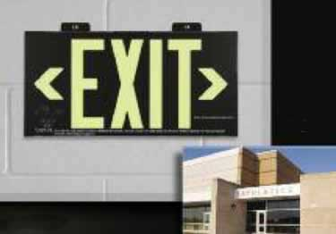 Photoluminescent Exit Signs Metal-50ft. UL Approved large image 8