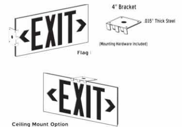 Photoluminescent Exit Signs Metal-50ft. UL Approved large image 9