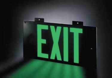Photoluminescent Exit Signs Metal-50ft. UL Approved