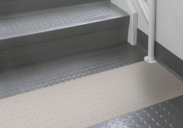 Roppe Rubber Stair Treads Raised Circular