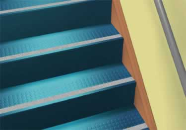 Roppe Rubber Stair Tread Low Profile Raised Circular large image 2
