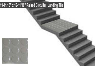 Roppe Rubber Stair Tread Low Profile Raised Circular large image 9