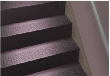 96 Raised Circular Vantage Design One Piece Stair Tread From Roppe