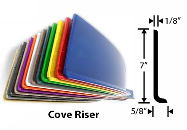 Roppe Rubber Stair Treads w/Abrasive Strip large image 1