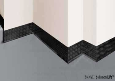 Diamond Plate Wall Base Molding large image 1