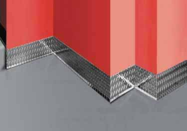 Diamond Plate Wall Base Molding