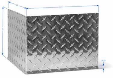 Diamond Plate Wall Base Molding large image 8