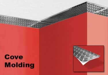 Diamond Plate Wall Crown Molding large image 1