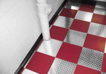 Diamond Plate Metal Interlocking Floor Tiles large image 4