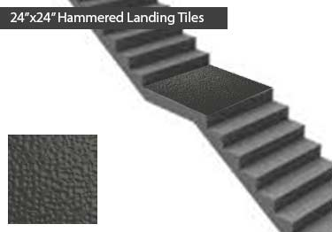 Johnsonite Rubber Stair Treads | Hammered Surface   large image 10