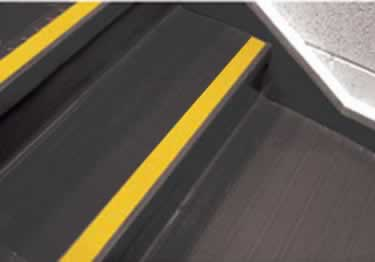 Johnsonite Rubber Stair Treads | Hammered Surface   large image 2