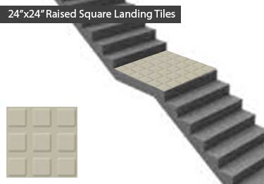Johnsonite Rubber Stair Treads | Raised Square large image 10