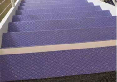 Johnsonite Rubber Stair Treads | Diamond Surface large image 1