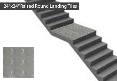 "Johnsonite Rubber Stair Treads | ""Roundel"" Raised Round  large image 13"
