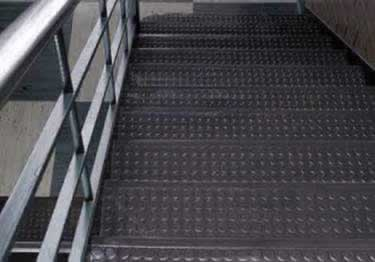 "Johnsonite Rubber Stair Treads | ""Roundel"" Raised Round  large image 3"