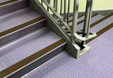"Johnsonite Rubber Stair Treads | ""Roundel"" Raised Round large image 4"
