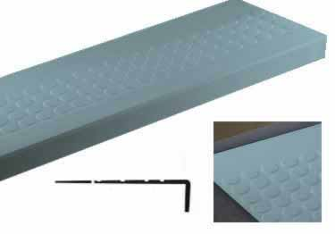 "Johnsonite� Rubber Stair Treads | ""Roundel"" Raised Round"