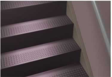 Johnsonite Rubber Stair Tread | One Piece w/Riser large image 1