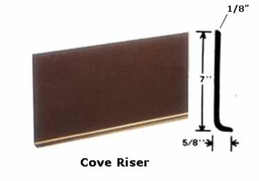Johnsonite Rubber Stair Tread | One Piece w/Riser large image 9