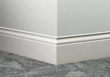 Wall Base Vinyl Rubber Metal - 6 inch floor trim
