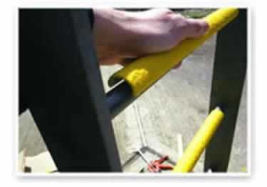 Ladder Rungs Non Slip Fiberglass Covers