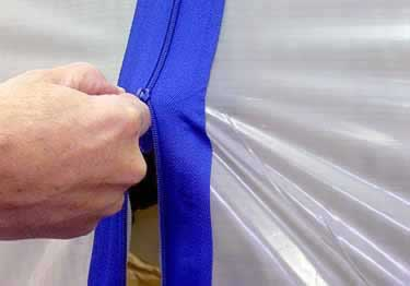 Self-Adhesive Dust Control Zippers