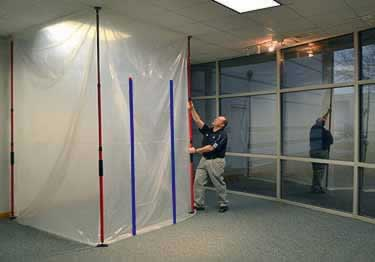 Dust Barrier Fire Retardant Wall Film large image 1