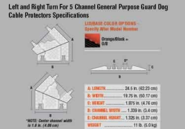 Guard Dog Cable Protector 5-Channel General Purpose ADA/DDA large image 14