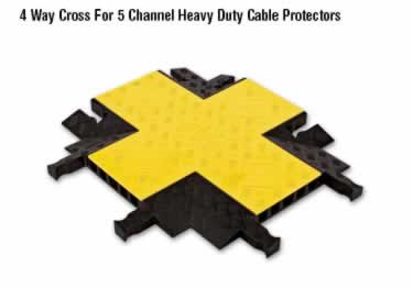 Yellow Jacket Cable Protectors 5-Channel Heavy Duty  large image 1