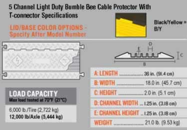 Bumble Bee Cable Protector 5 Channel Light Duty large image 8