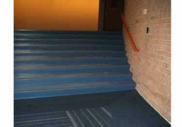 Johnsonite Rubber Stair Treads Extended Depth Hammered Surface large image 1