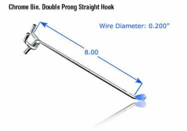 Pegboard Hooks | Chrome Plated large image 10