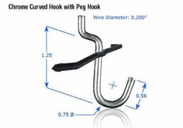 Pegboard Hooks | Chrome Plated large image 12