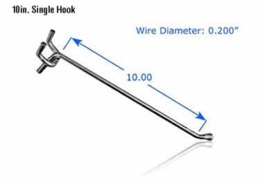 Pegboard Hooks | Chrome Plated large image 13