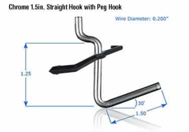 Pegboard Hooks | Chrome Plated large image 14