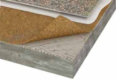 Cork underlayment corkplus 250 premium resilient flooring for Cork linoleum