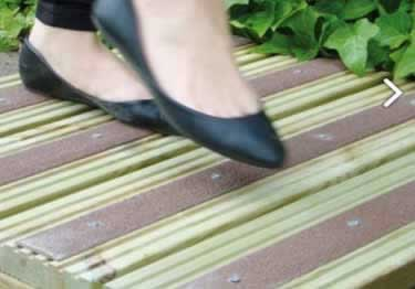 Anti-Slip Decking Strips | Screw-Down Fiberglass