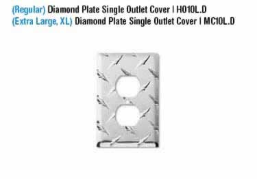 Diamond Plate Switch Covers large image 1