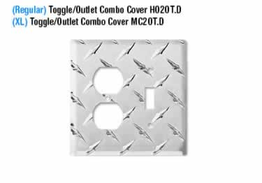 Diamond Plate Switch Covers large image 13