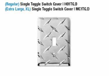 Diamond Plate Switch Covers large image 3