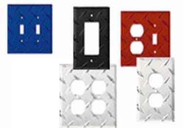 Diamond Plate Outlet Covers