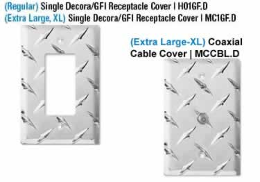 Diamond Plate Switch Covers large image 6