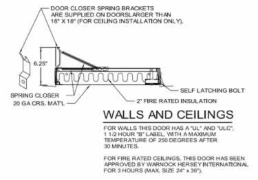 Fire Rated Access Doors | Insulated Exposed Drywall Flange by Acudor large image 10