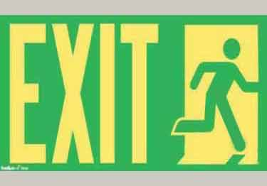 Photoluminescent EXIT sign  \UL Approved