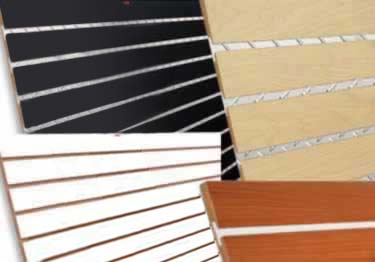 Slatwall Panels, Slat Boards and Accessories