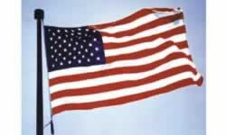American flags proudly manufactured in America