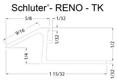 Schluter® Tile Edging - RENO-TK Profile large image 6