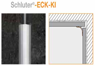 Schluter® Tiled Wall Edging - ECK-KI Inside Corner Profiles large image 7