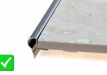 Schluter® TREP-FL Stair Nosing Profile large image 1
