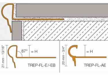 Schluter® TREP-FL Stair Nosing Profile large image 6